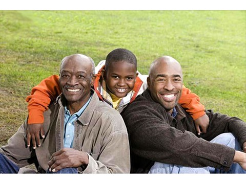 black family outdoors_500